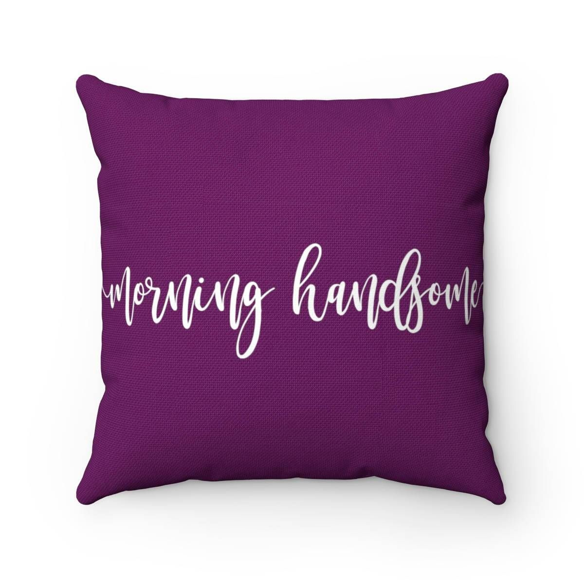 Morning handsome boyfriend gift personalized pillow throw pillows