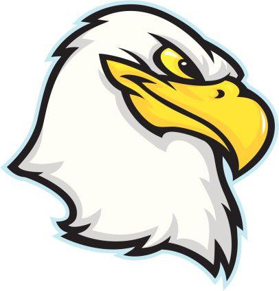 eagle head vector art illustration eagles logos pinterest rh pinterest ph Bald Eagle Mascot Eagle School Mascot