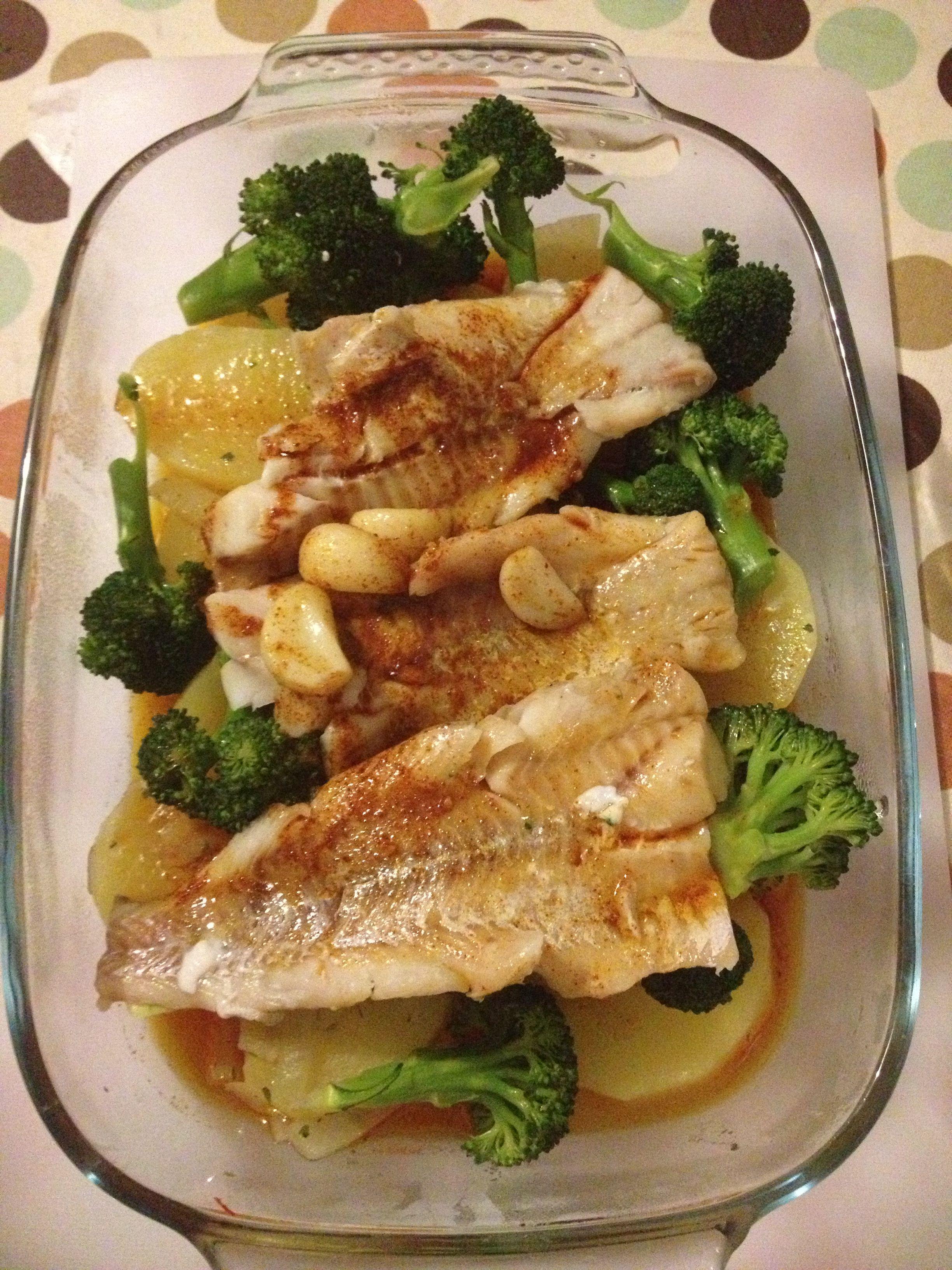 White fish Spanish style :-)