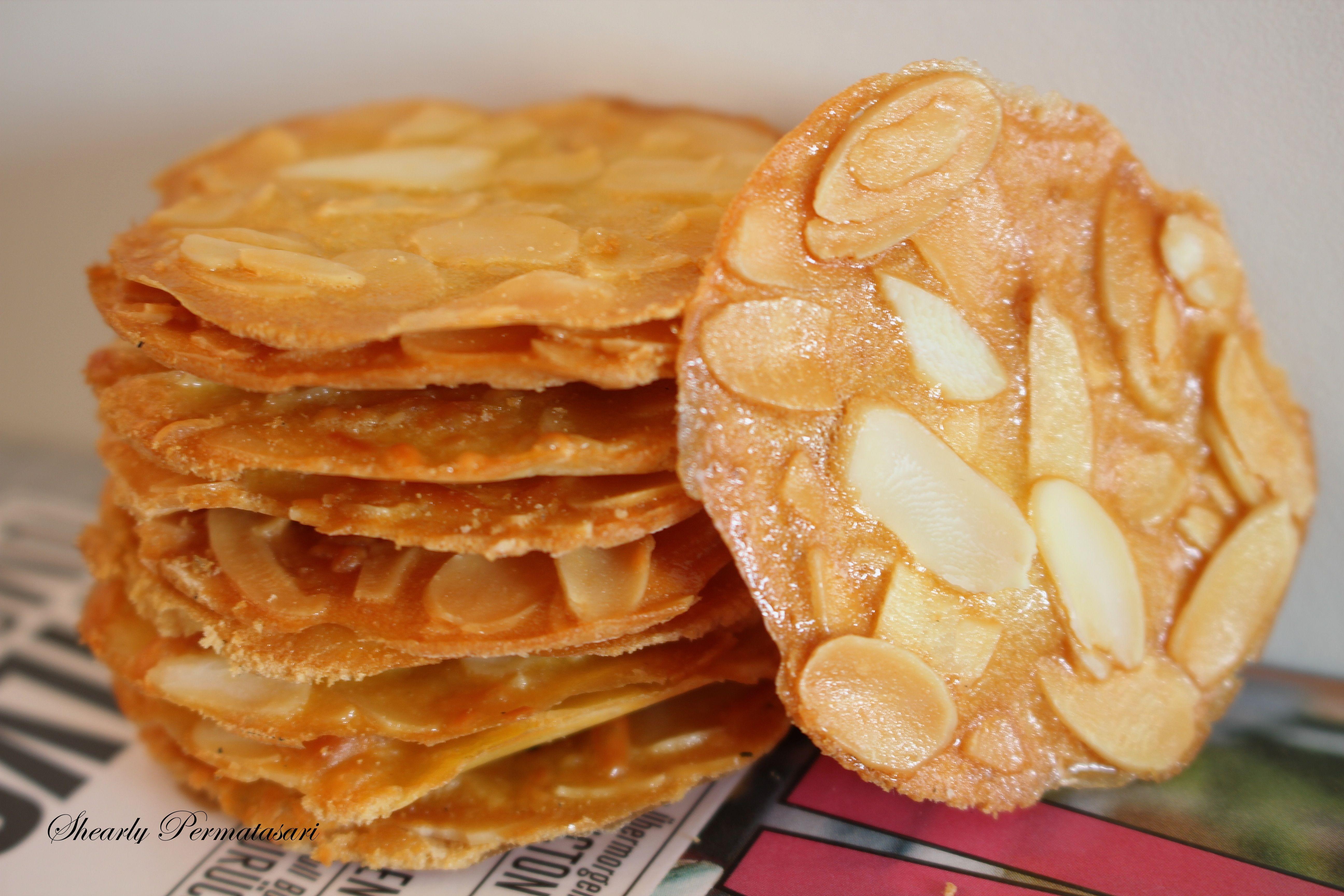 Almond Crispy Cookies Bilingual Eng Indonesia Resep Biskuit Kue Kering Mentega Makanan