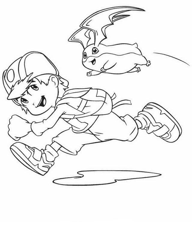 Digimon Tegninger til Farvelægning. Printbare Farvelægning for børn. Tegninger til udskriv og farve nº 30