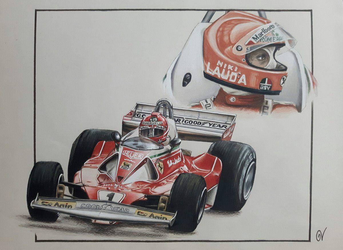 F1 Drawing Drawings Tribute Racing