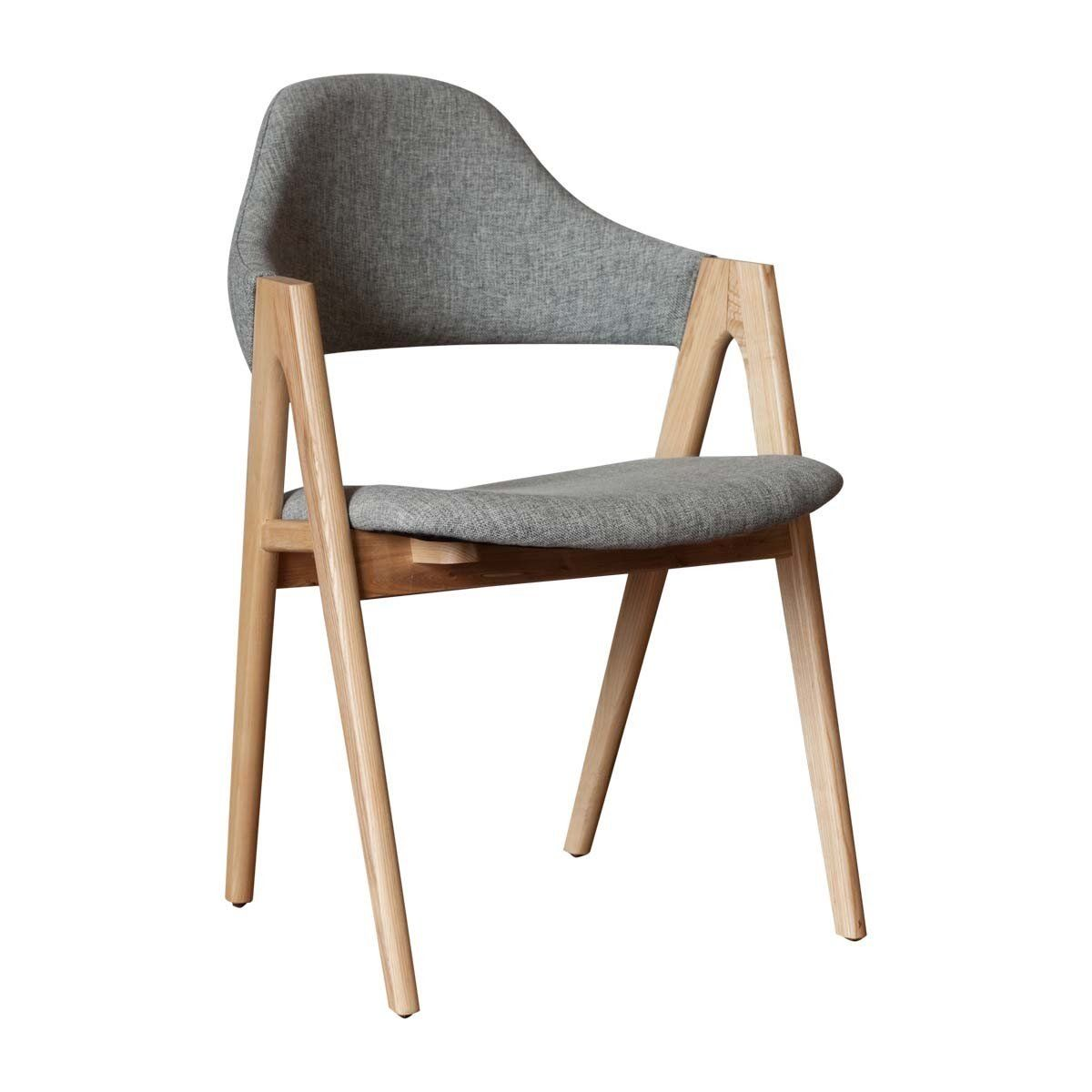Sergio Dining Chair Ash Grey Weave Dining Chairs Fabric