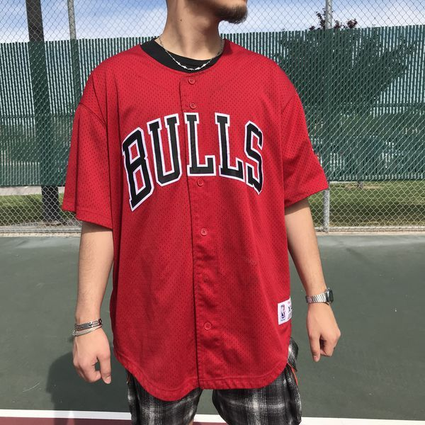 Bulls Official Mitchell Ness Nba Vintage Baseball Jersey Size Xxl For Sale In Las Vegas Nv Baseball Jerseys Nba Baseball