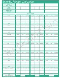updated monthly budget printable thrifty thursday lwsl