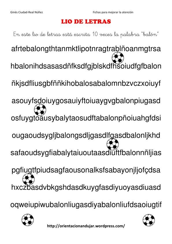 Atención mantenida. Lio de letras. | Logopédia | Pinterest | De ...