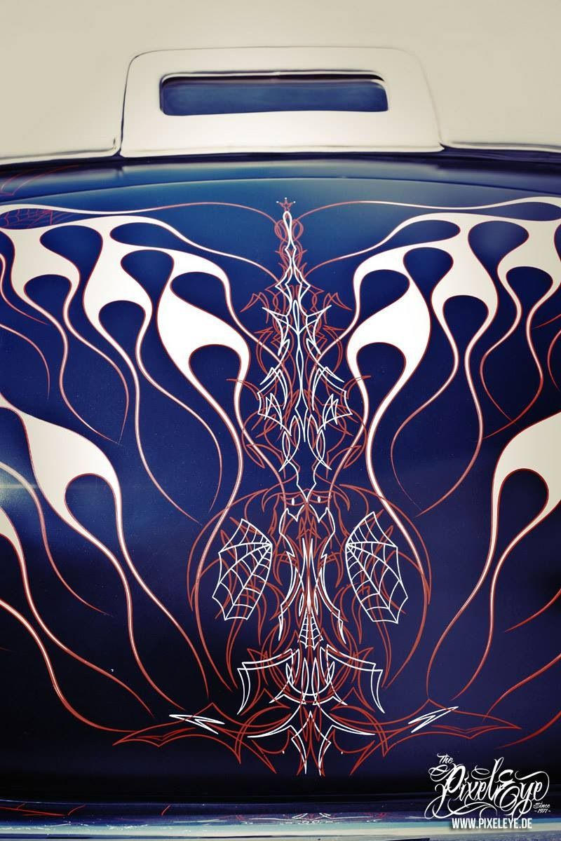 Classic cars authority cool pinstriping from the la roadster show - Flame Art