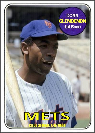 Donn Clendenon New York Mets My Custom Baseball Cards Baseball