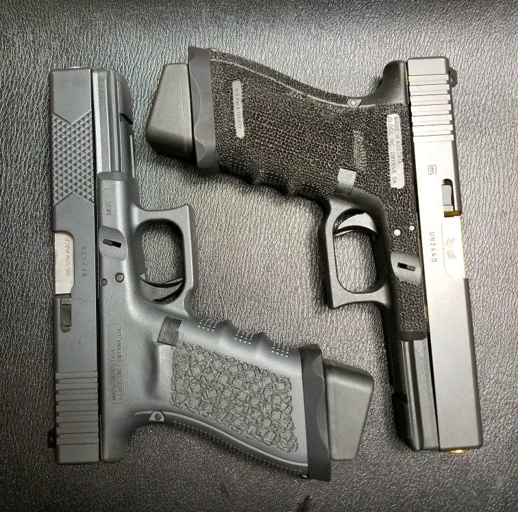 Glock 21's  Head Down Products did one in sniper gray for me  Added