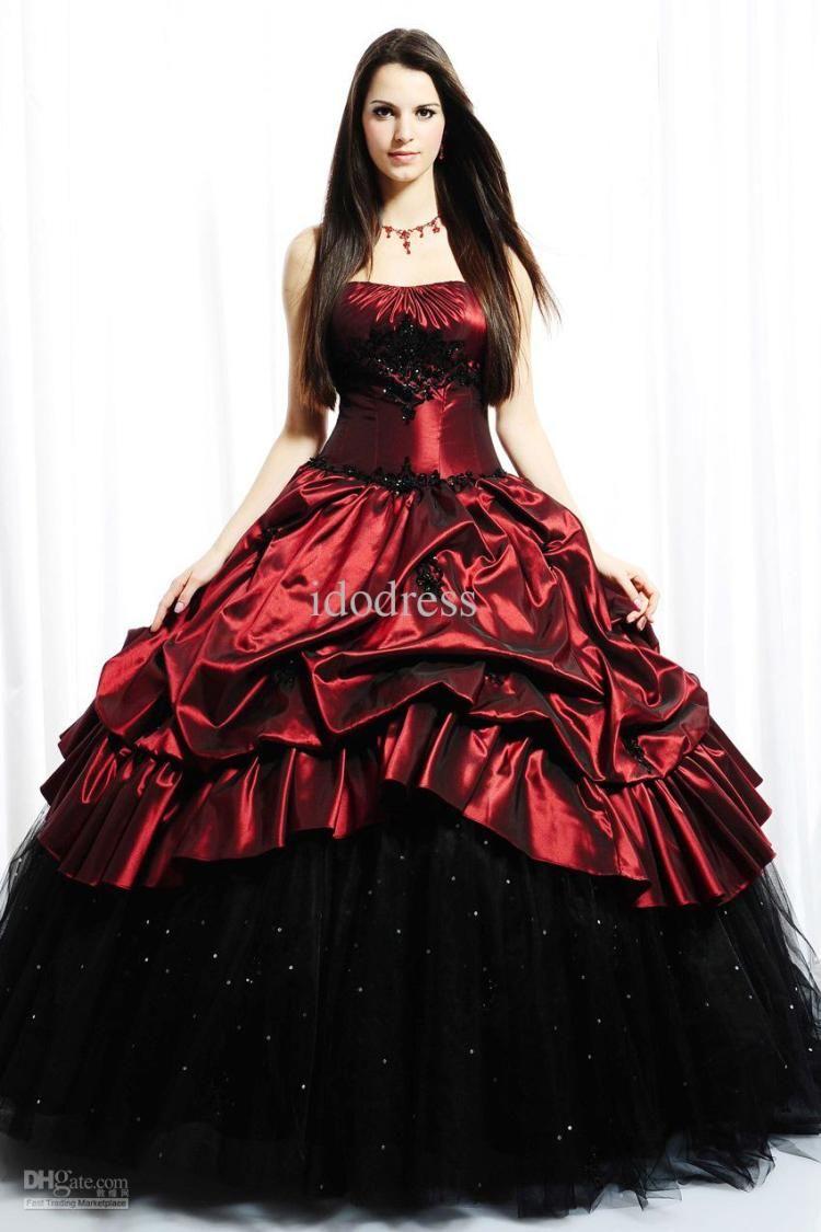 Dark Elegant Gothic Wedding Dress ... | dresses | Pinterest | Gothic ...