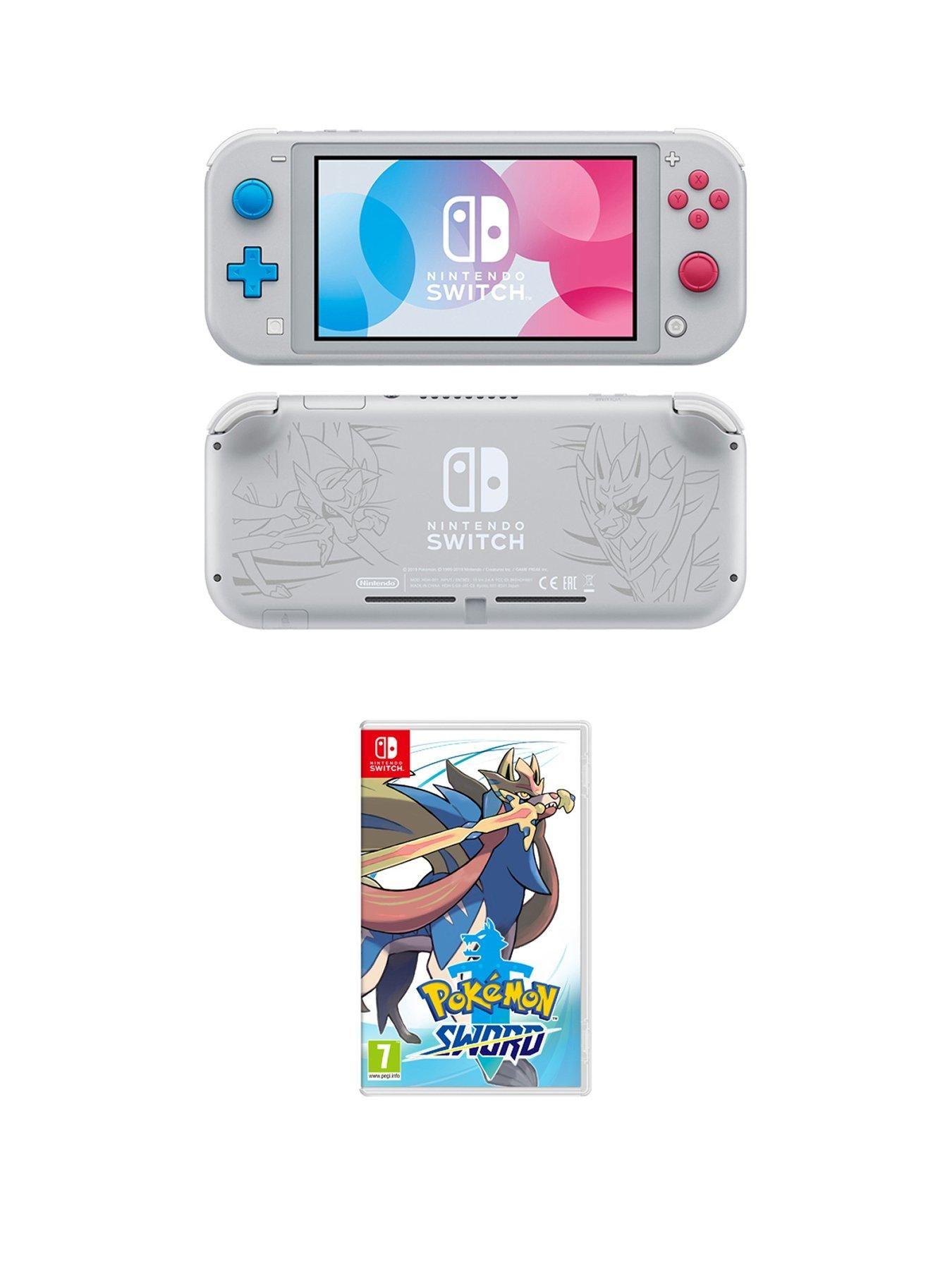 Nintendo Switch Lite Nintendo Switch Lite Zacian And Zamazenta Console With Pokemon Sword In One Colour In 2020 Nintendo Switch Nintendo Switch Games Nintendo