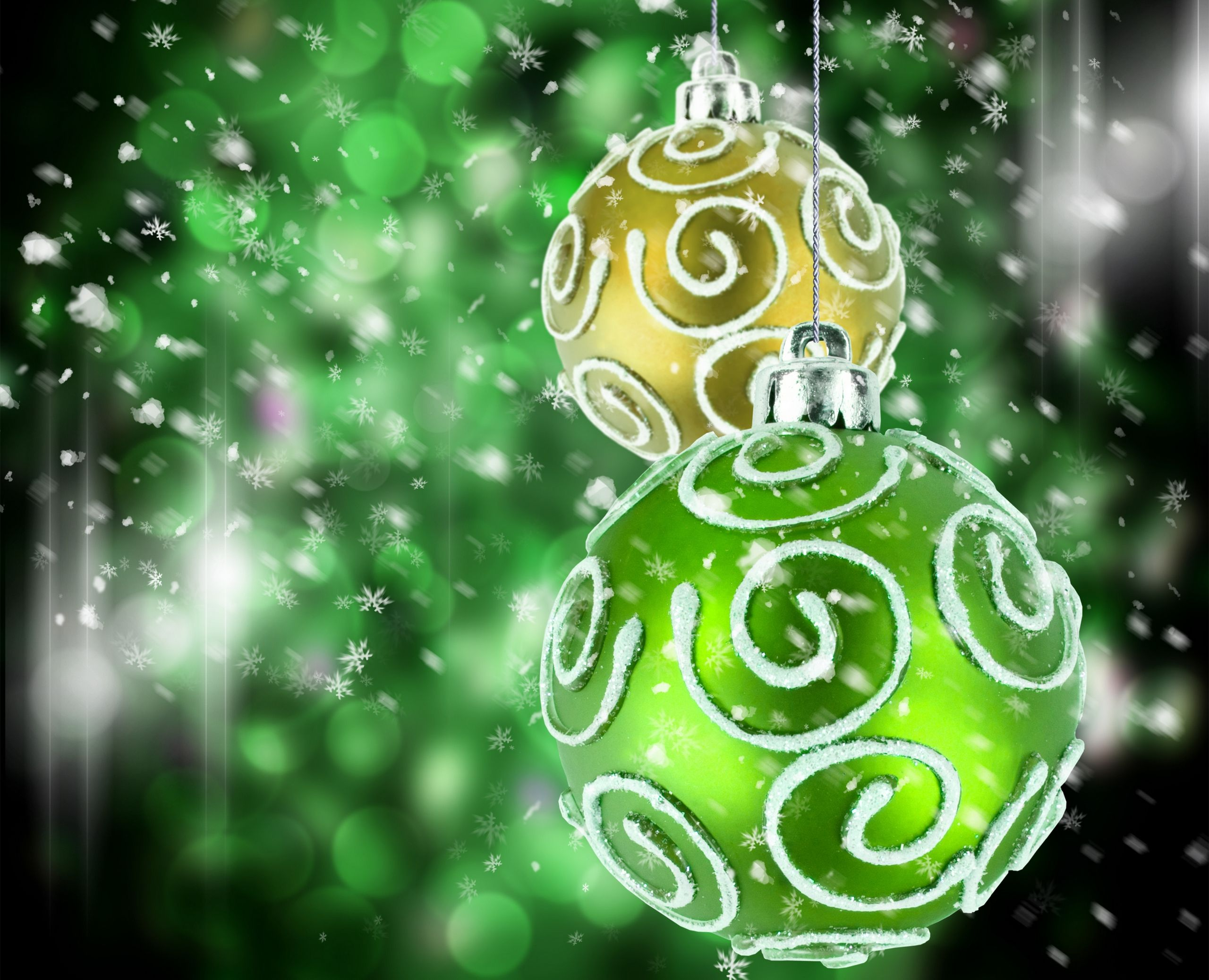 Image For Abstract Christmas Green Wallpaper Free HD