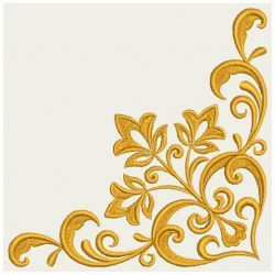 Heart Floral Damask Corner 08(Lg) machine embroidery designs