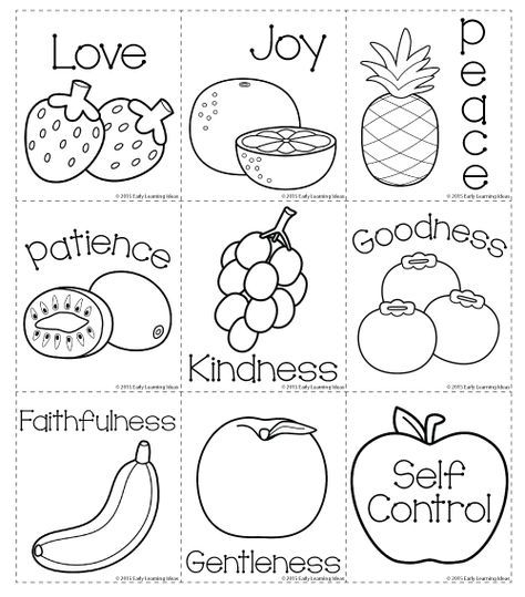 Fruit Of The Spirit Memory Match Cards Early Learning Ideas Christian Preschool Sunday School Activities Bible Crafts