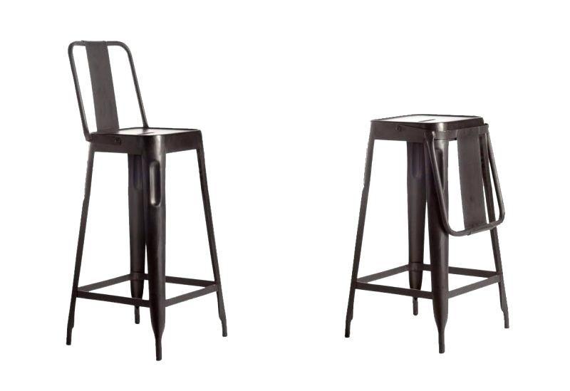 Chaise De Bar Pliante Chaise De Bar Avec Dossier Pliable Chaise De
