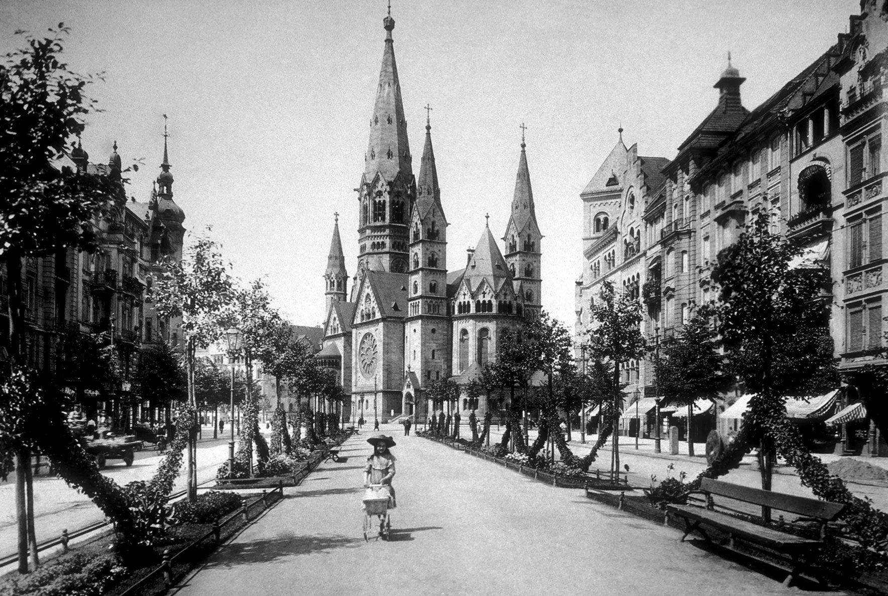 Berlin Vor 1933 Kaiser Wilhelm Gedachtniskirche 1906 Kaiser Wilhelm Historische Fotos Berlin