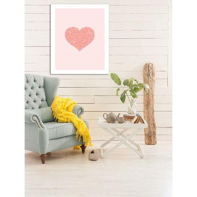East Urban Home 'Love Hearts Swirl' by Brett Wilson Framed Graphic Art