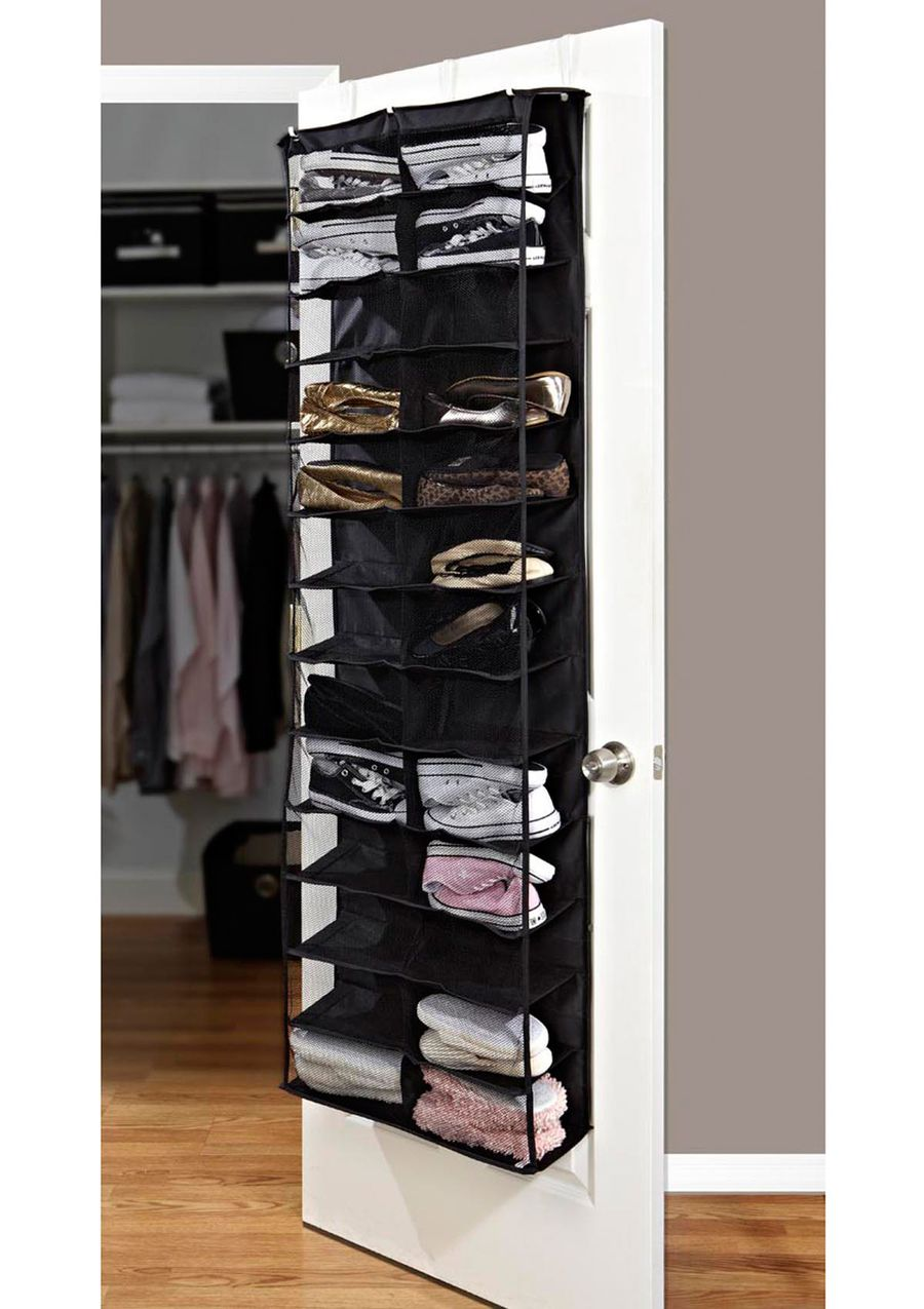 Kennedy Home 26 Pocket Black Over The Door Shoe Organizer 1999