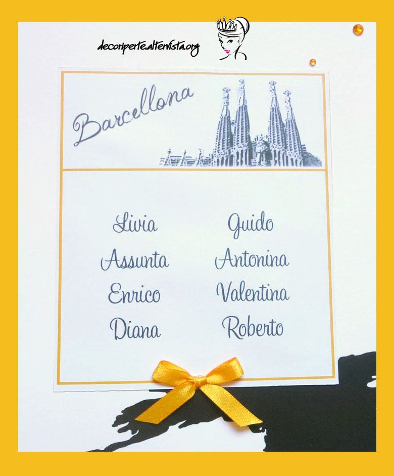 Travel wedding theme seating plan place cards - Tableau marque place mariage ...