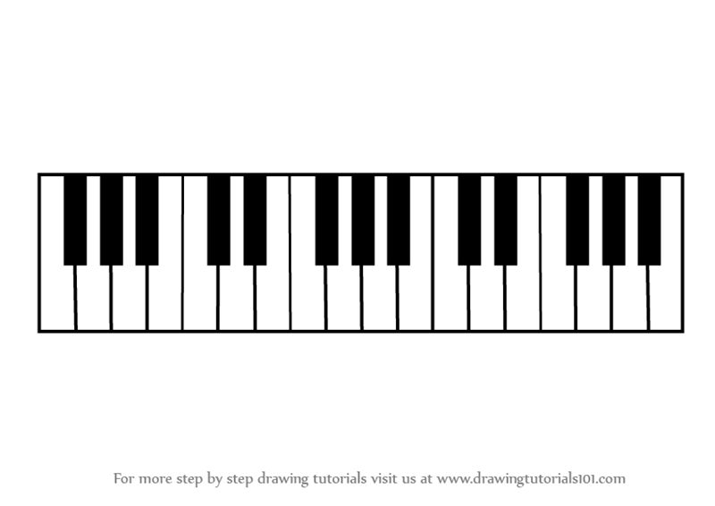 Learn How To Draw Piano Keys Musical Instruments Step By Step Drawing Tutorials Piano Keys Musical Instruments Drawing Drawing Piano