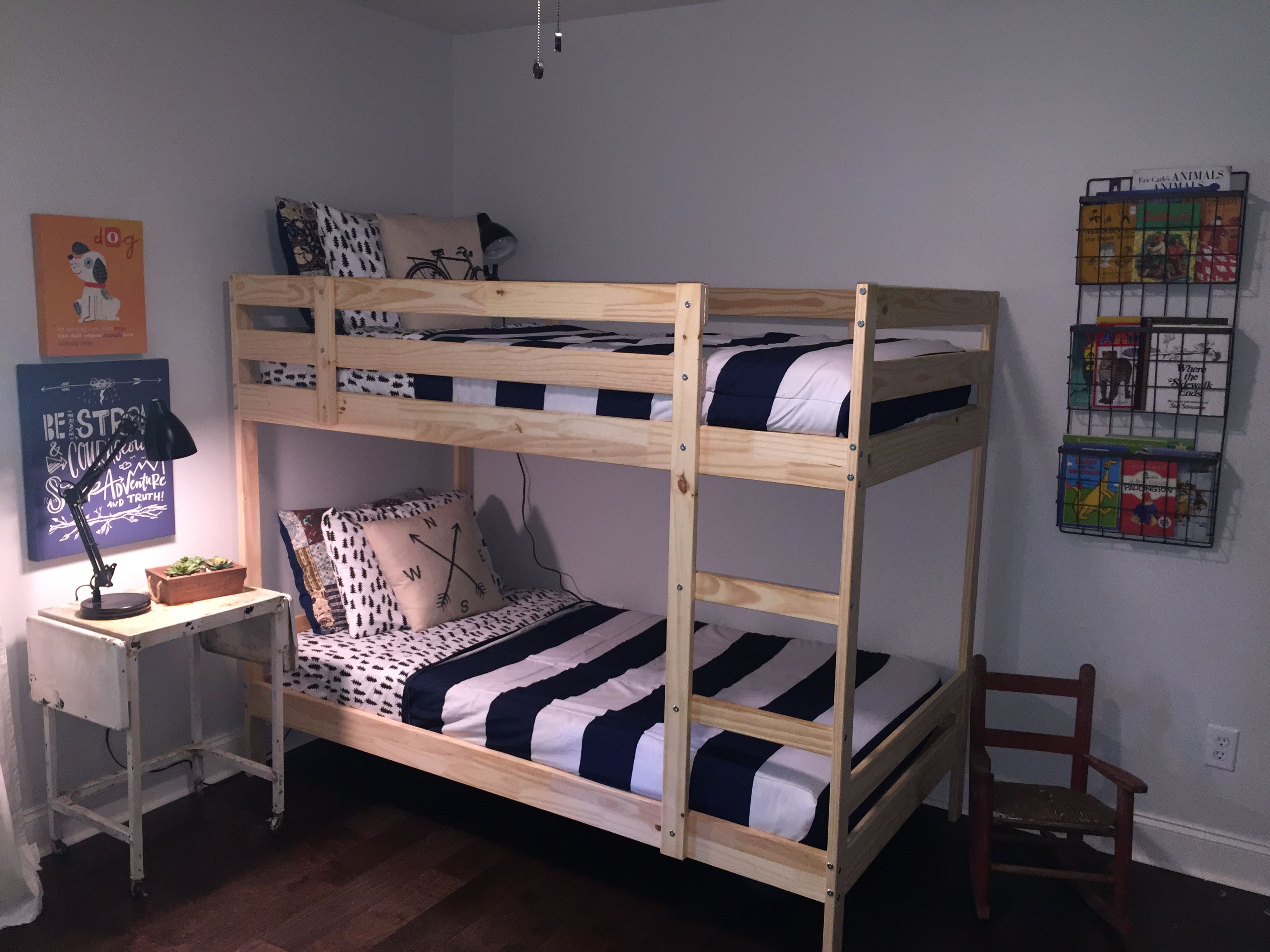 ikea mydal bunk beds adventure shared boys room - Ikea Shared Kids Room