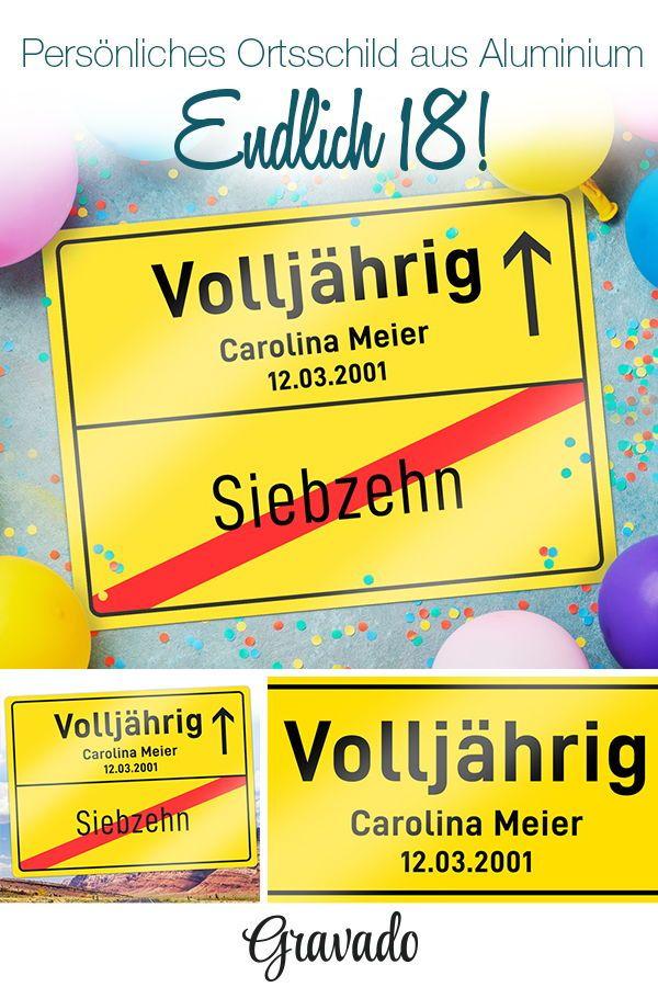 Personalisiertes Ortsschild Zum Geburtstag Volljahrig Schilder Selbst Gestalten Geschenke Zum Geburtstag Geburtstag Geschenk Freundin Geschenk Fur Bruder