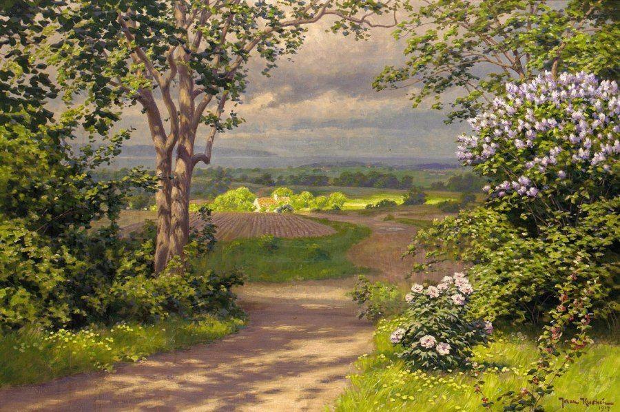 Johan Krouthen Early Summer Landscape 1917 Landscape Summer Landscape Landscape Art