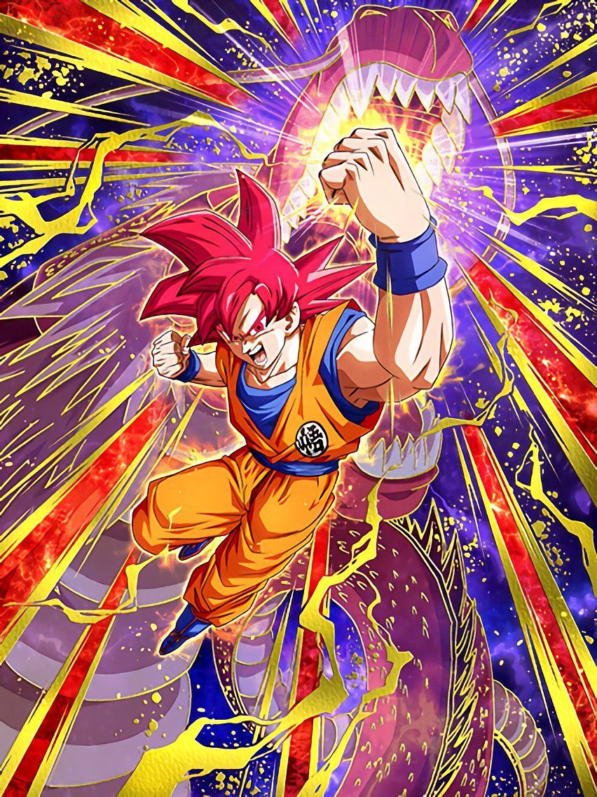 Divine Power Within Super Saiyan God Goku Just Try And