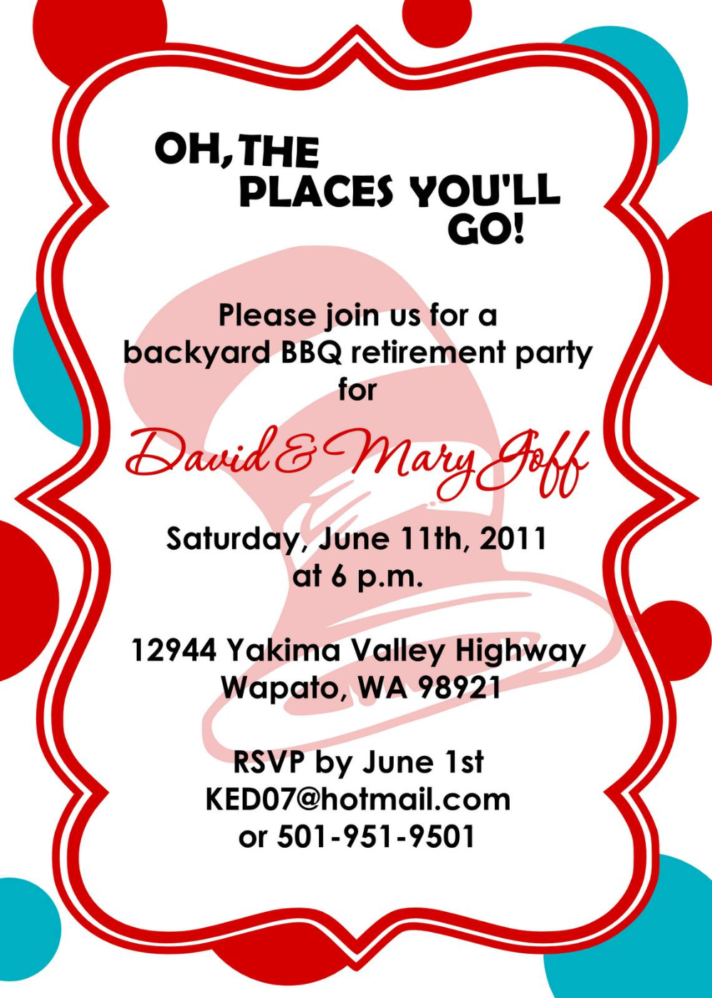 Retirement Party Invitation Template Ms Word - Party Invitations
