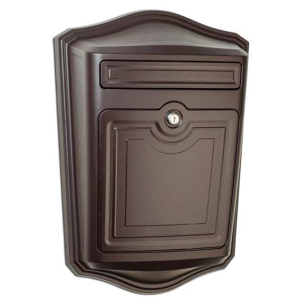 Architectural Mailboxes Maison Locking Rubbed Bronze Wall Mount Mailbox 2540rz 10 The Home Depot Wall Mount Mailbox Architectural Mailboxes Mounted Mailbox Wall mounted mailboxes with locks