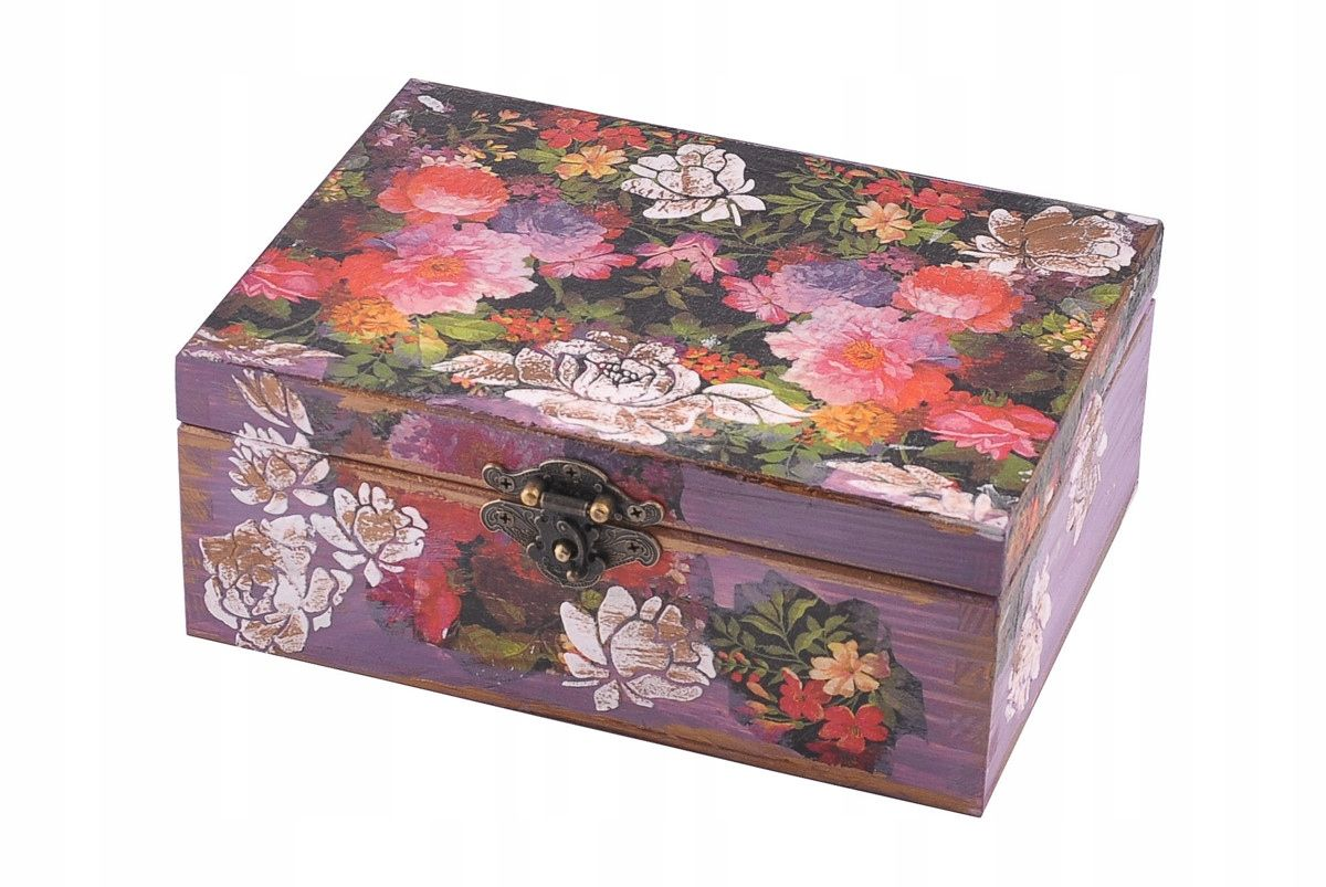 Kufer Prezent Na Mikolaja Hand Made Roze Relief 7678208098 Oficjalne Archiwum Allegro Trinket Boxes Decorative Boxes Decoupage