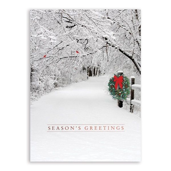 Snowy Lane Deluxe Holiday Greeting Cards