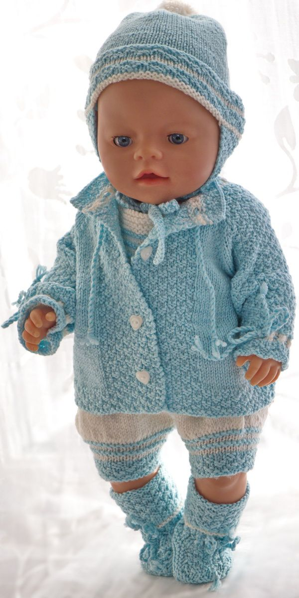 Baby doll clothes knitting patterns | Opskrifter baby born dukke ...