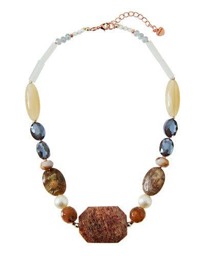 Nakamol Chunky Stone & Crystal Necklace 7o9Fy