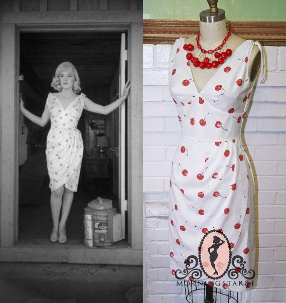 Marilyn Monroe Cherry Wiggle Dress-Misfits Roslyn by Morningstar84