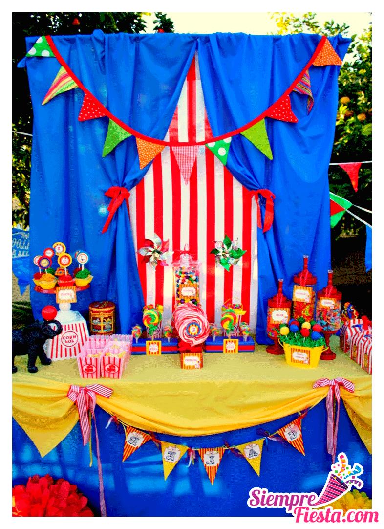 Incre bles ideas para una fiesta de cumplea os de circos y - Cosas para fiestas de cumpleanos ...