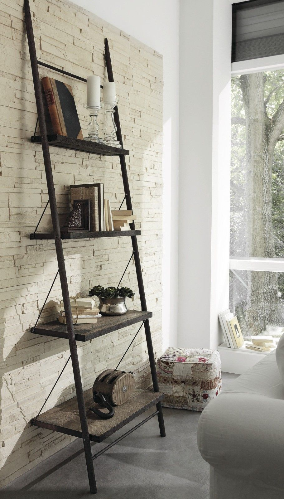 Ladder Shelf With Chains House Pinterest Shelves And