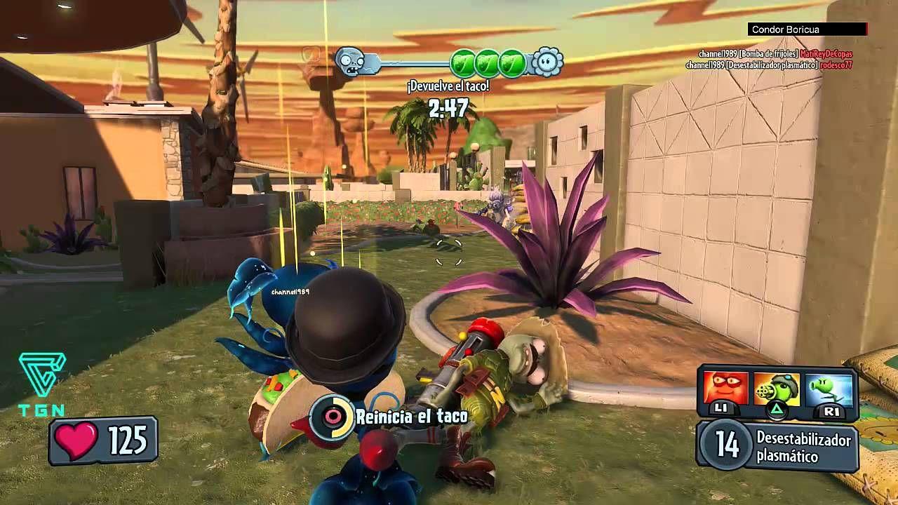 PS4 PVZ Garden Warfare BANDIDOS DE TACOS QUE NO ATRAPEN EL TACO ...