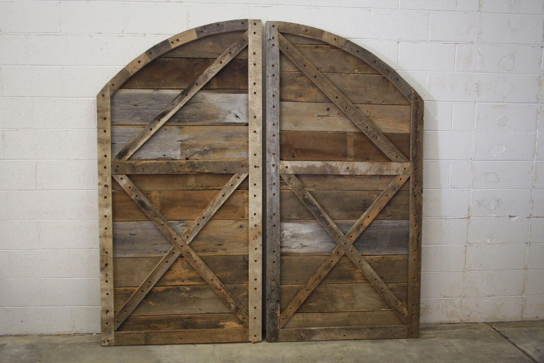 Sliding barn door arched buy hand crafted arched top barn doors