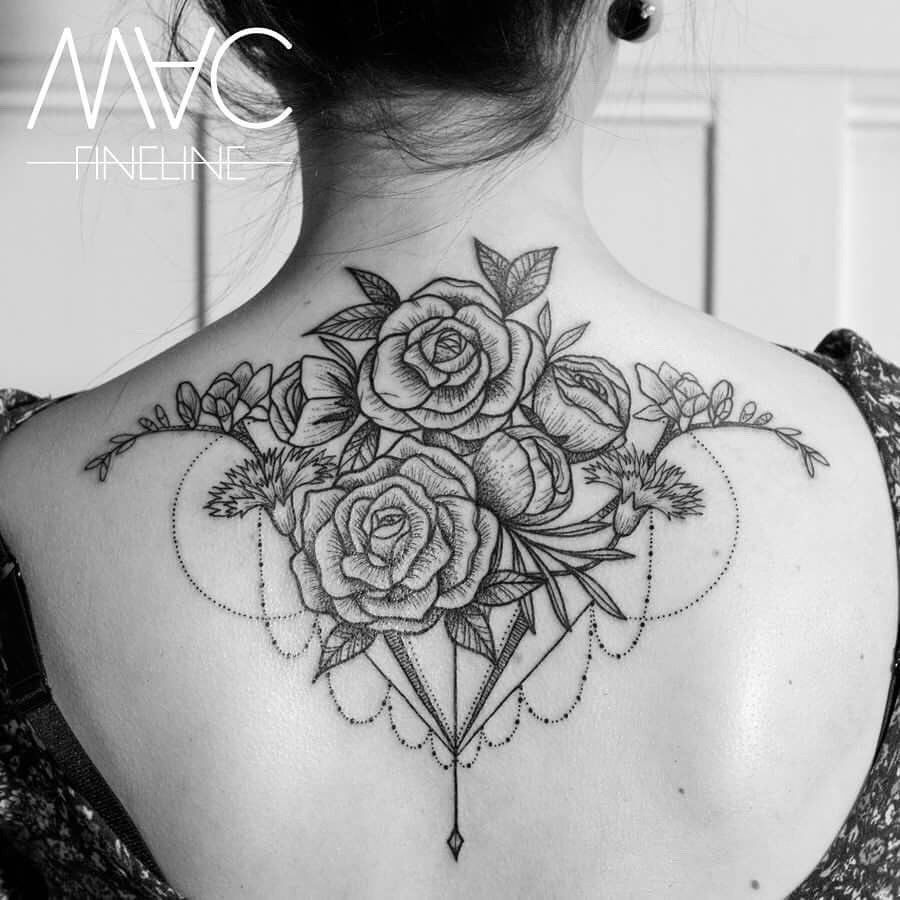 Rose Back Tattoo Back Tattoo Back Tattoo Women Back Tattoo