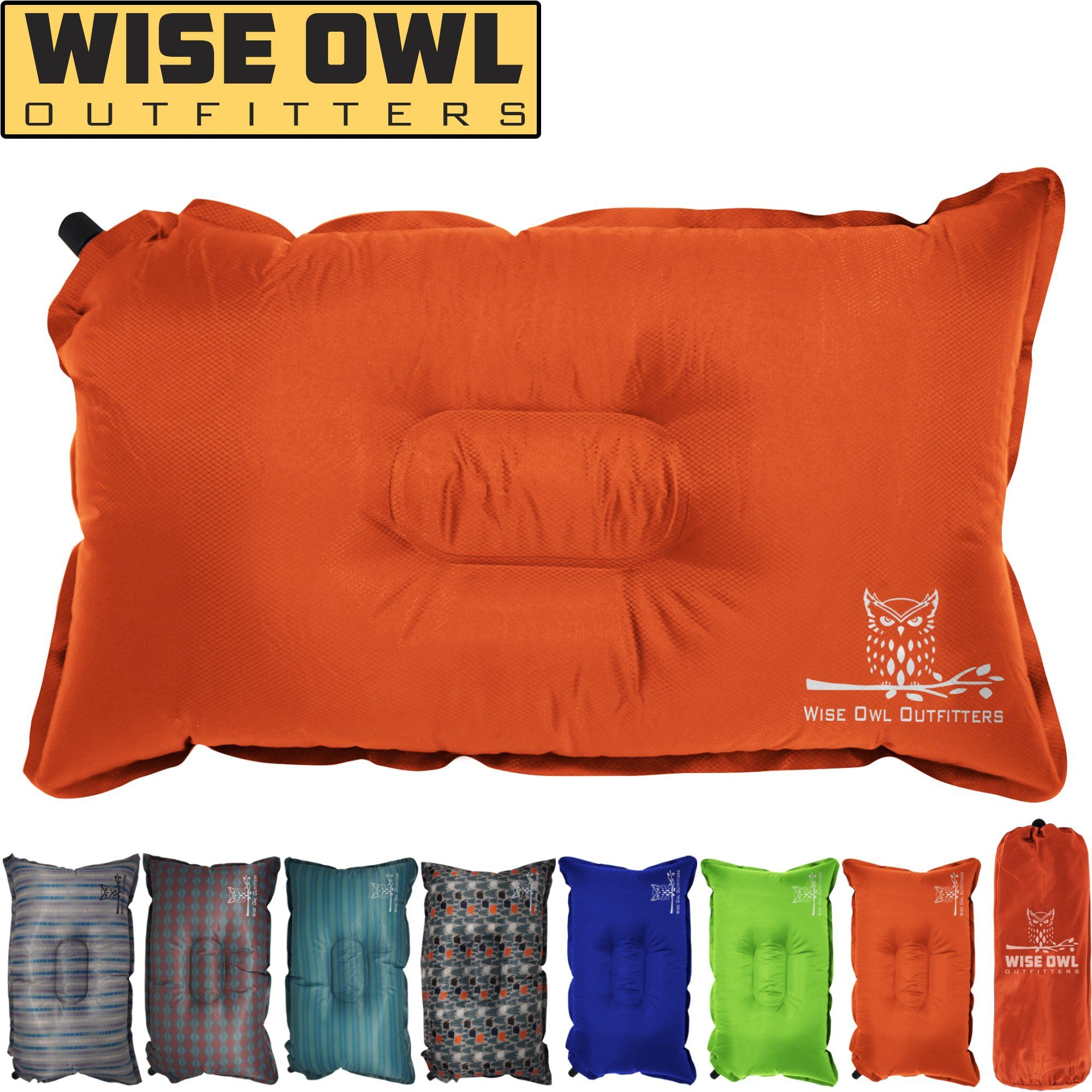 Camping Travel Inflatable Sponge Pillow Camping Pillows Hiking Backpack Backpacking