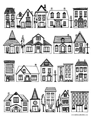 Houses Coloring Page Meditation art Adult coloring and Canoeing