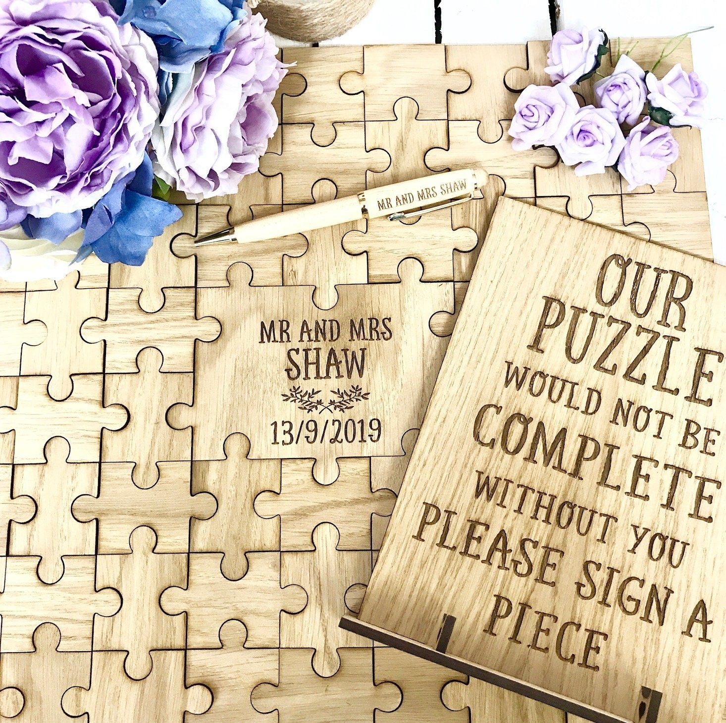Jigsaw Puzzle Guestbook Set Jigsaw Puzzle Pen And Sign In