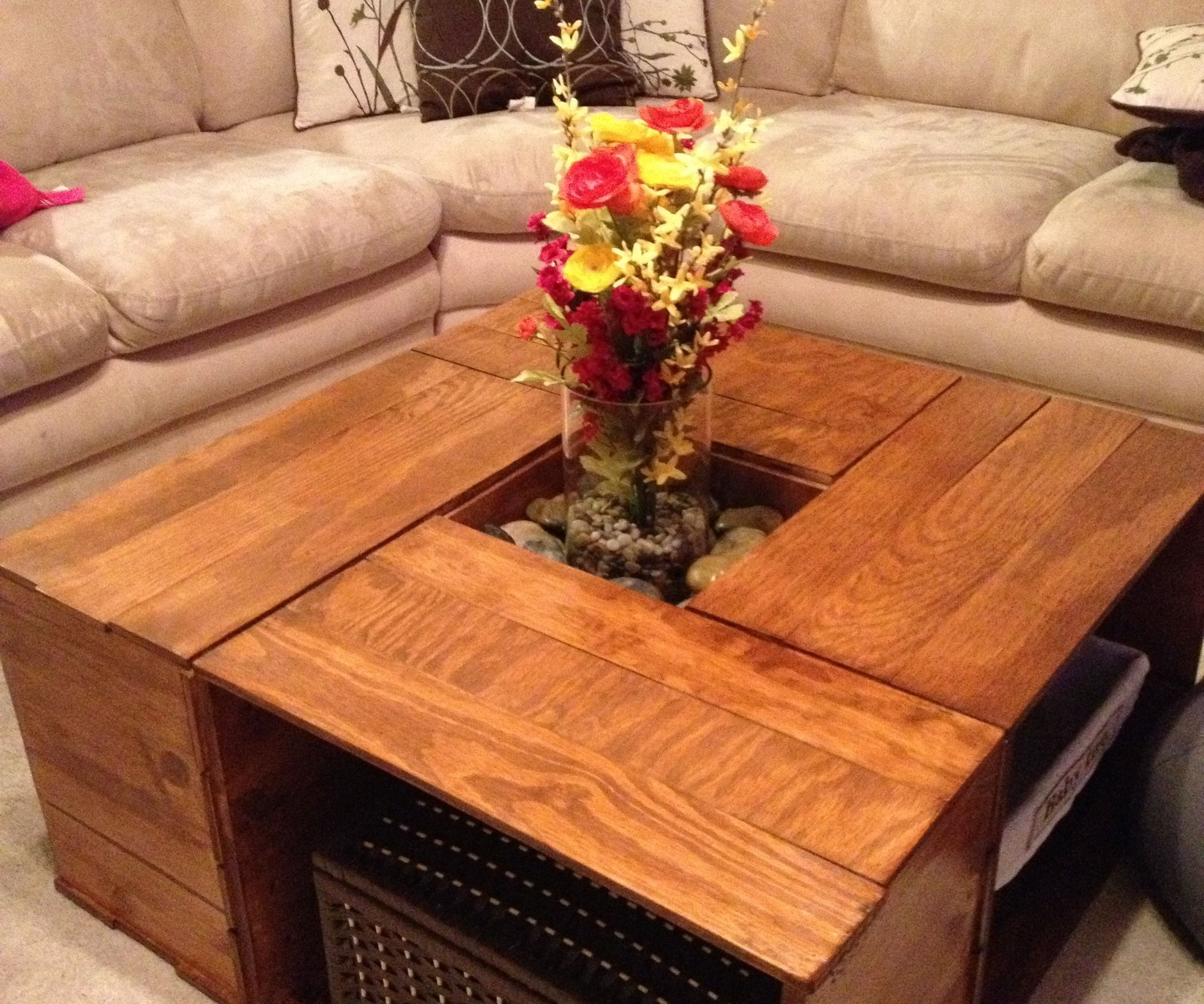 Crate coffee table crates square tables and coffee crate coffee table geotapseo Choice Image