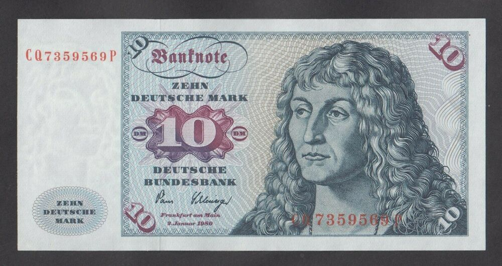 Germany 10 Mark 1980 Unc P31d Ship On Back Ebay Bank Notes Money Collection Paper Money