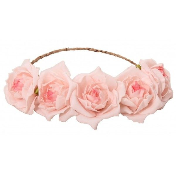 Libby Floral Head Crown Pink ($23) ❤ liked on Polyvore