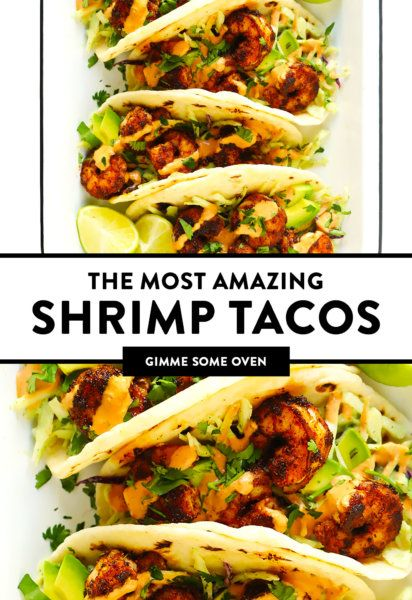 The BEST Shrimp Tacos Recipe! | Gimme Some Oven