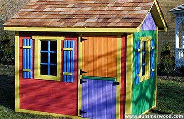 $100   Bear Club Playhouse Kits   Traditional   Outdoor Playsets    Summerwood