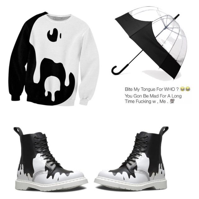 """rainy day"" by s-y-littlejohn-sl ❤ liked on Polyvore featuring Dr. Martens and Hunter"