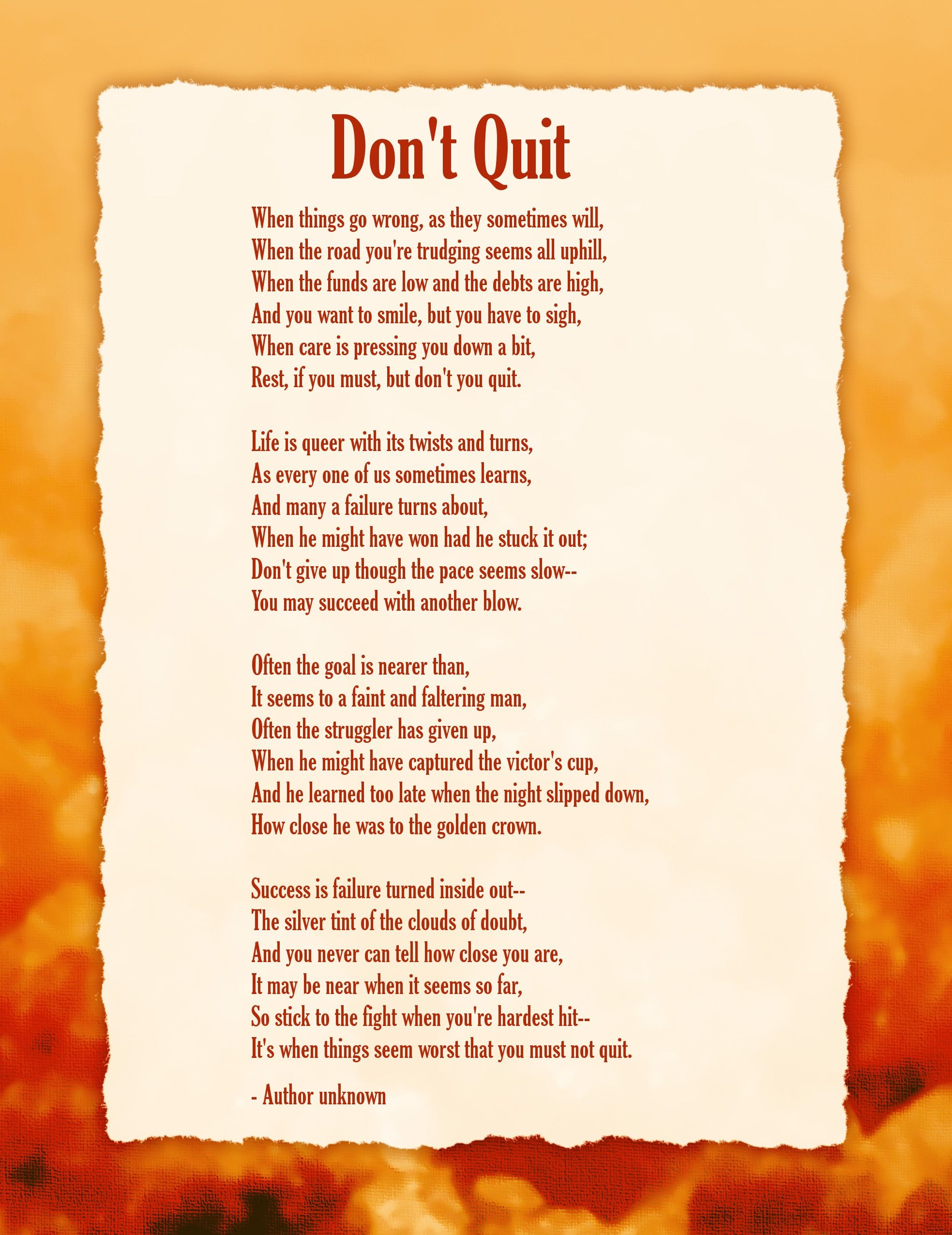 dont quit inspirational poem large picture pdf verybestquotes